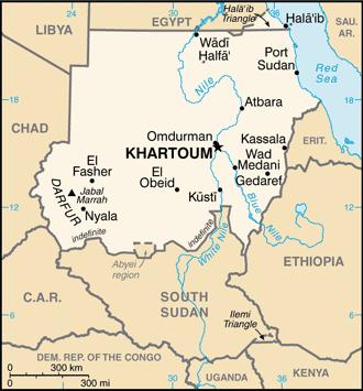 Sudan mapa