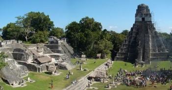 Centralna plaza Tikal (zdjęcie na licencji Creative Commons, autor Bjørn Christian Tørrissen)