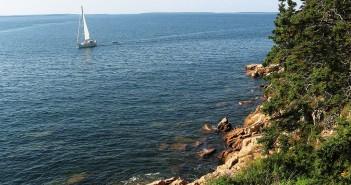 Wybrzeże w stanie Maine w pobliżu Parku Narodowego Acadia