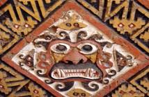 Detal muralu z Huaca de la Luna, Peru