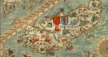 Fragment Carta Marina z XVI wieku, przedstawiający Islandię