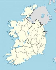 Przybliżona lokalizacja Rush w północnym Dublinie
