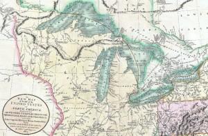 Wielkie jeziora, fragment mapy z 1905
