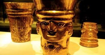 Złote puchary znalezione w Lambayeque, Kultura Sican (IX-XIw.)
