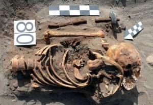 Pochówek wyposażony w berło odkryty na wzgórzu Banduria