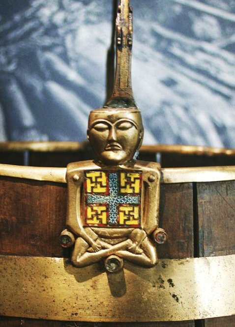 'Budda' z łodzi z Oseberg Fot. za tb.no. Królowa z marihuaną na łodzi z Oseberg