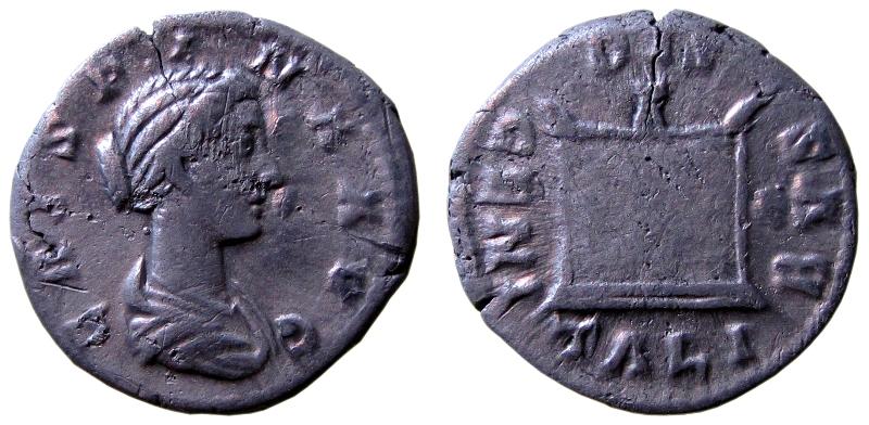Denar Kommodusa dla Kryspiny (Fot. M.Bogucki)